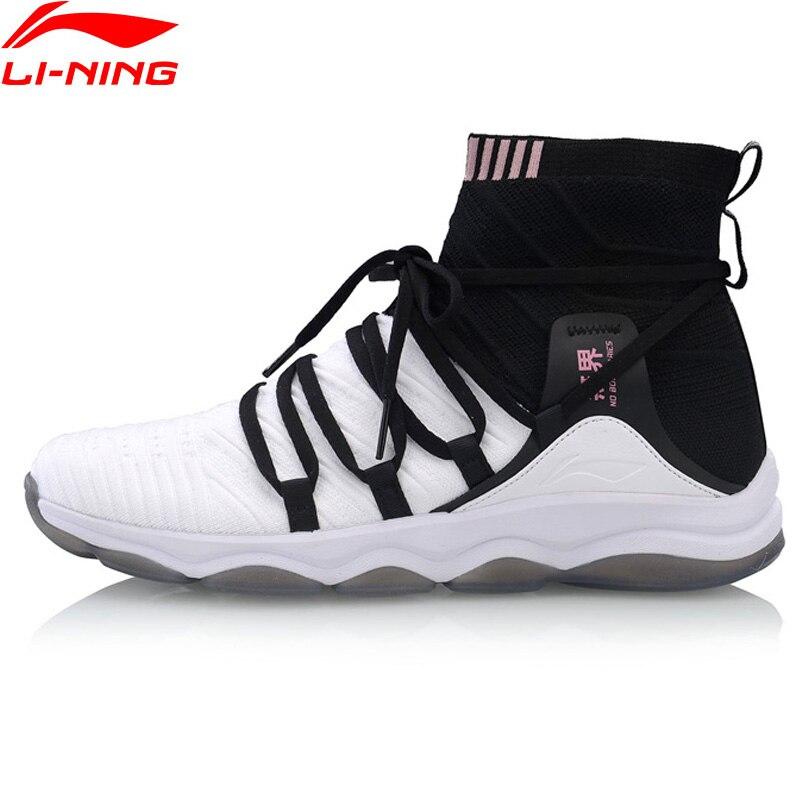 Li Ning Women NO BOUNDARIES Cushion Training Shoes Mono Yarn Wearable LiNing Fitness Sport Shoes Sneakers AFJP004 YXX054