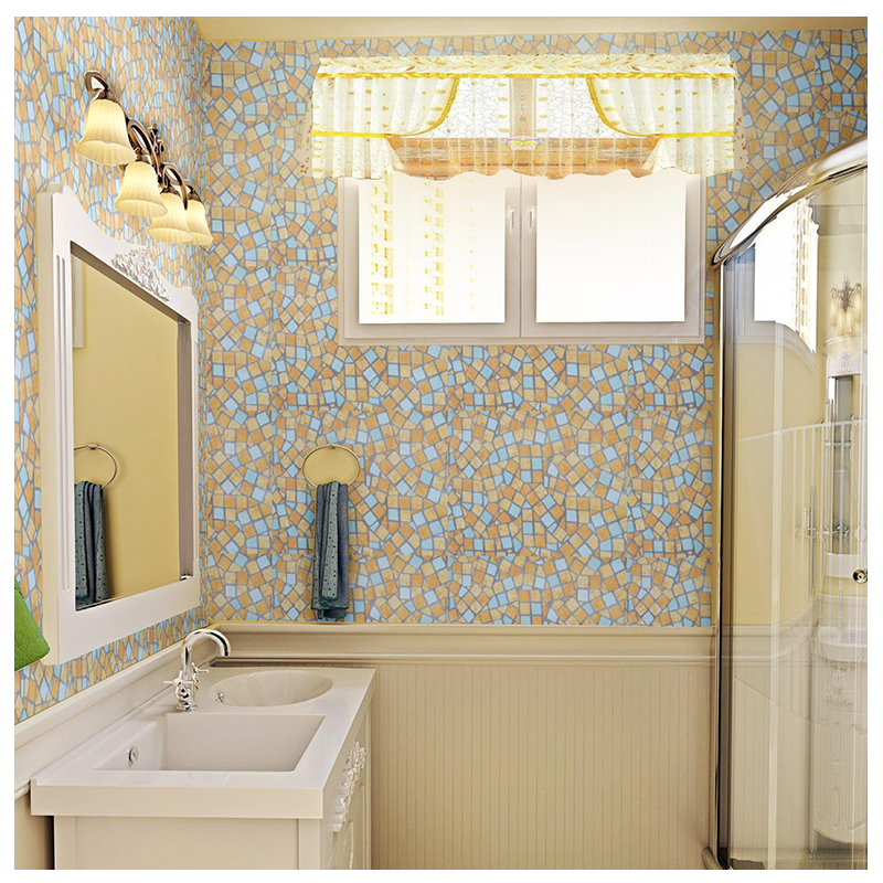 45cmX10m Waterproof Self Adhesive Wallpaper Roll Kitchen Bathroom Home  Decor PVC Decorative Film Removable Vinyl Wall Stickers In Wallpapers From  Home ...
