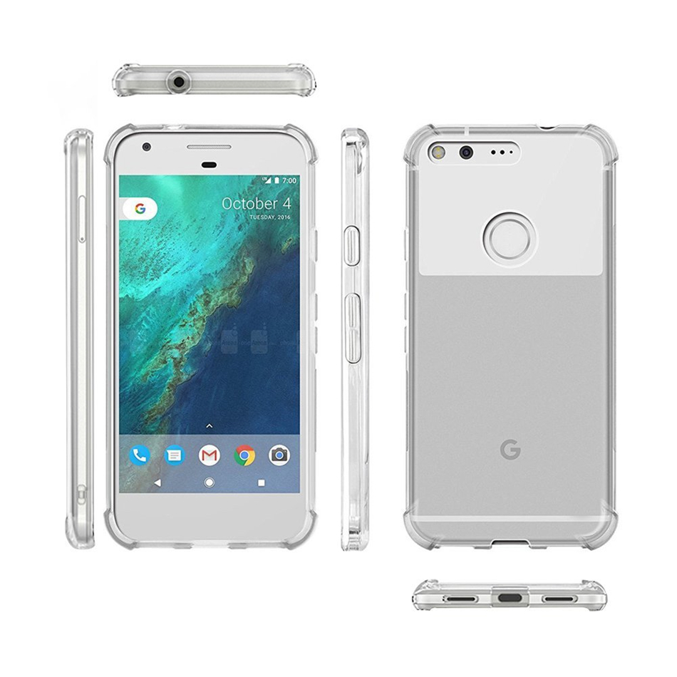 new product 0f768 5b078 For Google Pixel 1 2 3 XL Lite Air Cushion Case Clear Crystal Soft ...