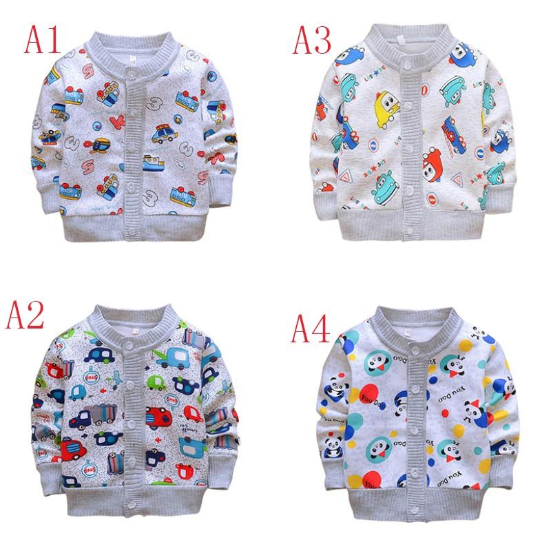 Baby boy girl coat autumn children cardigan knit jacket kids clothes children clothing cartoon pattern coat hot selling