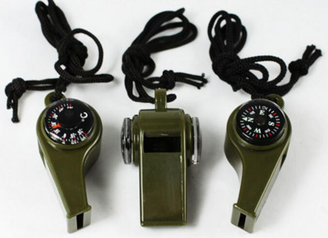 Multifunction Plastic Whistle Outdoor Survival Whistle Coach Referee Whistle With Compass & Thermometer