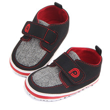 цена на Handsome Infant Toddler Soft Sole Hook Loop Pre walker Sneakers Baby Boy Girl Crib Shoes Newborn to 18 Months