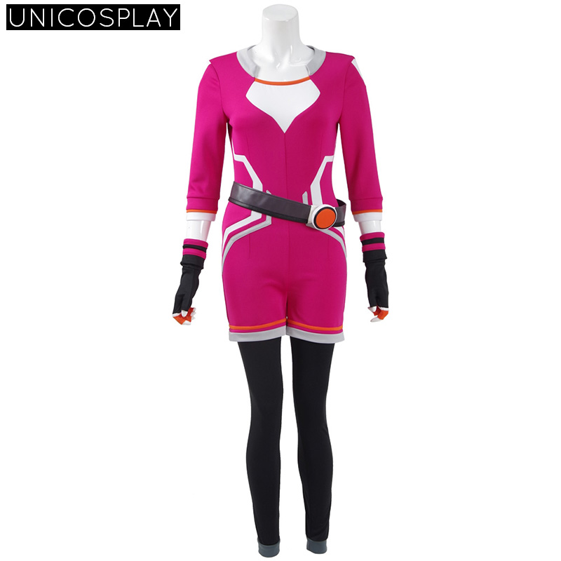 Pokemon Go Costume Women Trainer Uniform Pokemon Cosplay Jumpsuit Halloween Red Outfit Full Set