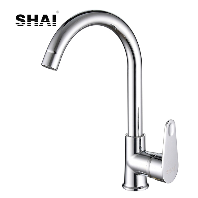Shai Chrome Finish Kitchen Faucet Hot Cold Water Tap 360 Degree