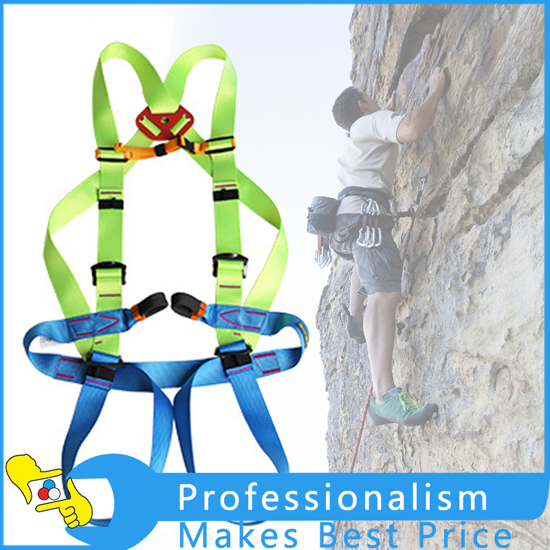 Outdoor Rock Climbing High Work Rappelling Harness Seat Belt Full Body Harness Safety Belt