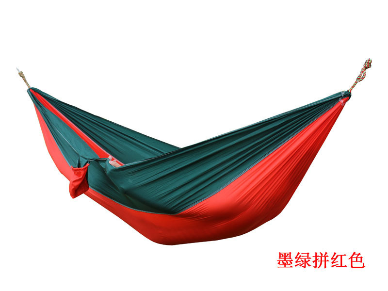 2 people Hammock 16 Camping Survival garden hunting swing Leisure travel Double Person Portable Parachute outdoor furniture 22