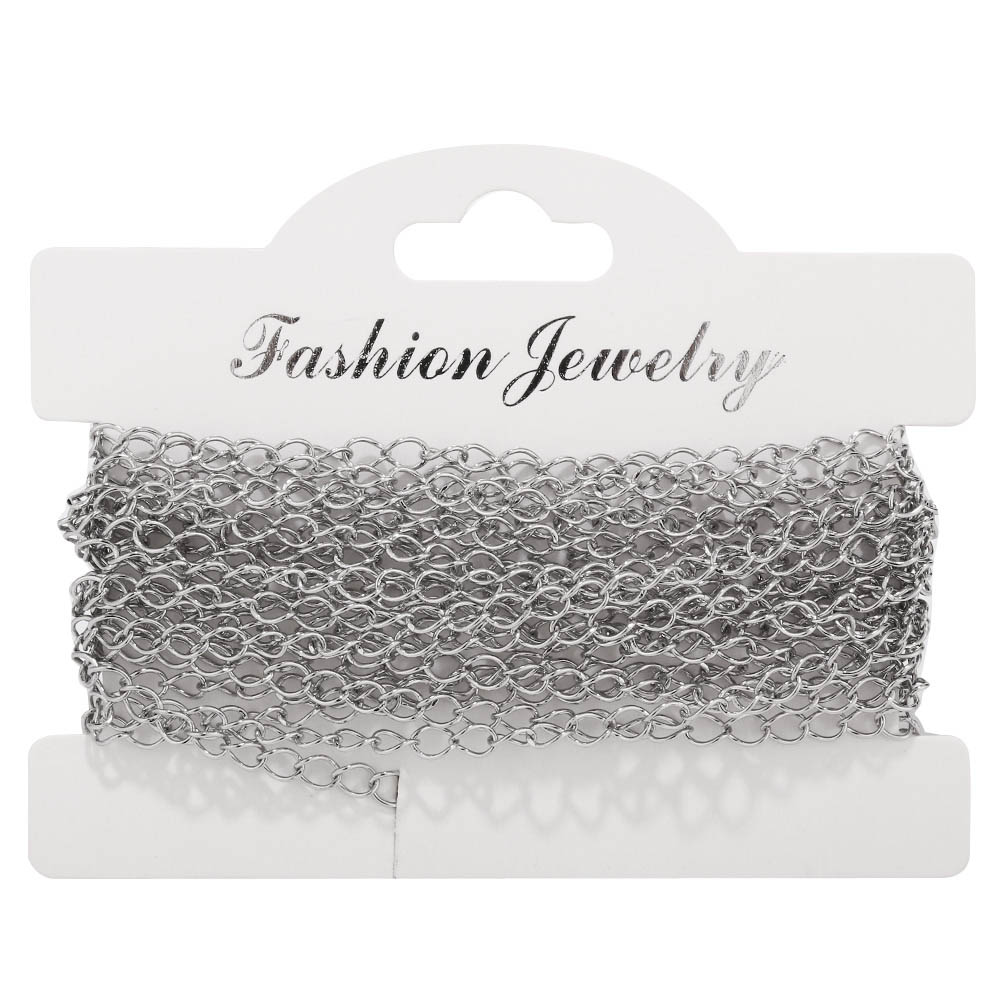 10 Meters Width 3.6MM Gold Silver Stainless Steel Necklace Extended Chain Link Chains Jewelry Accessories
