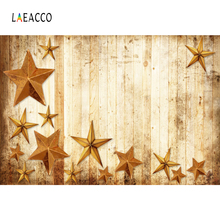 Laeacco Old Wooden Board Stars Children Photography Backgrounds Customized Digital Photographic Backdrops For Photo Studio
