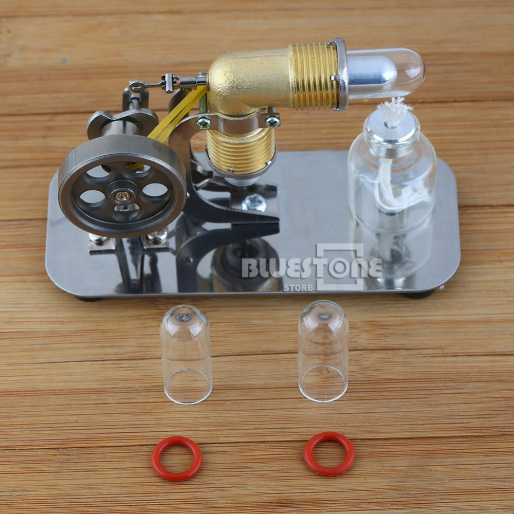 Mini Hot Air Stirling Engine Motor Model Educational Toy Kits Electricity HA001