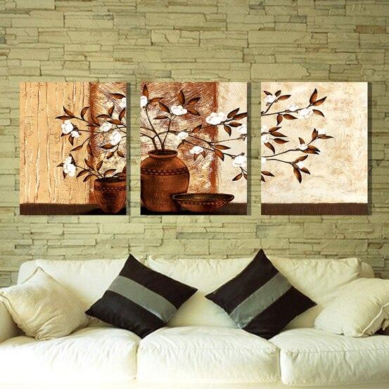 ᑐFlores en un florero pared flor pintura lienzo pinturas de pared ...