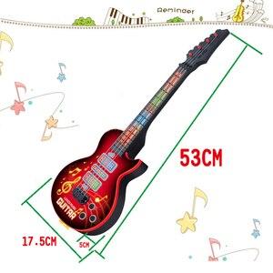 Hiqh рекомендует 4 струнные музыкальные электрические гитарные Игрушки Музыкальные инструменты Обучающие для детей подарки на Новый год и день рождения