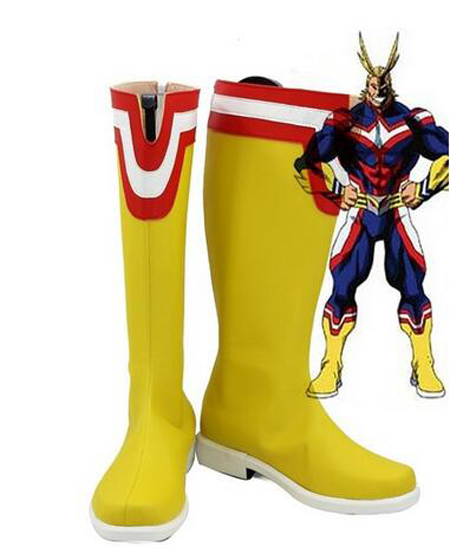 My Hero Academia All Might Cosplay Boots Shoes Anime Party Cosplay Boots Custom Made Men Shoes