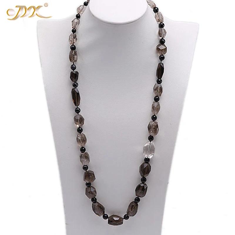 Women's Single Strand Black Bead Necklace