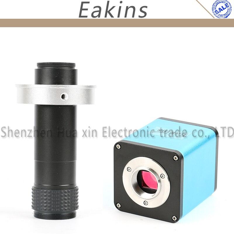 Autofocus 1080 P 60FPS SONY IMX290 Settore HDMI TF Video Messa A Fuoco Automatica Fotocamera microscopio + 1X-130X C-Mount Lens Per PCB SMT Riparazione