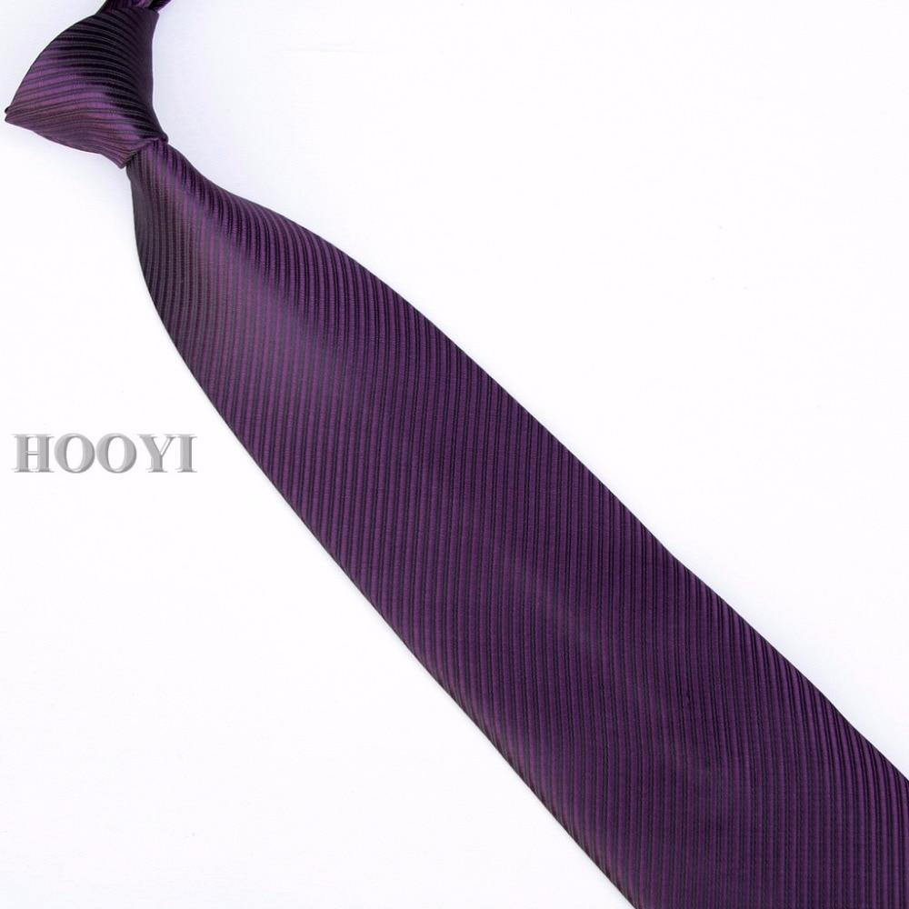 HOOYI 2019 férfi nyakkendő nyakkendő nyakkendő egyszínű üzleti - Ruházati kiegészítők - Fénykép 6