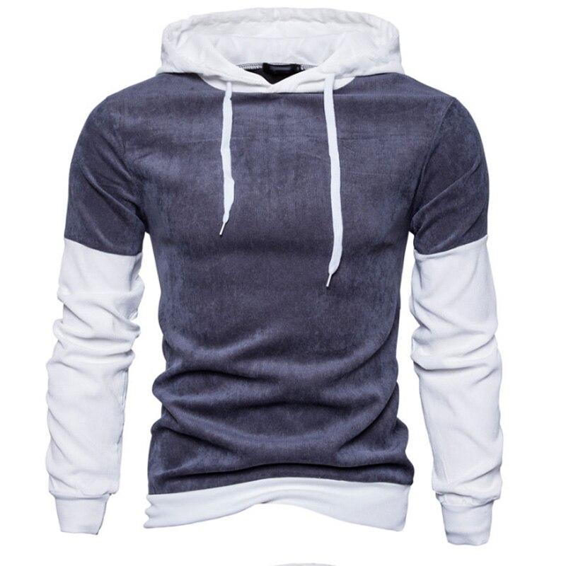 2018 Hoodies Men Sudaderas Hombre Hip Hop Mens Brand Stitching Hooded Hoodie Sweatshirt  ...