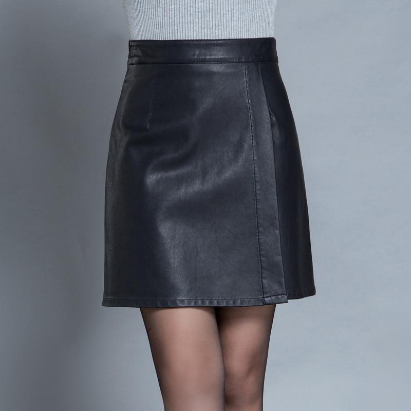 2016 New Fashion Autumn Winter Womens Black Above Knee Black A Line Formal font b Skirt
