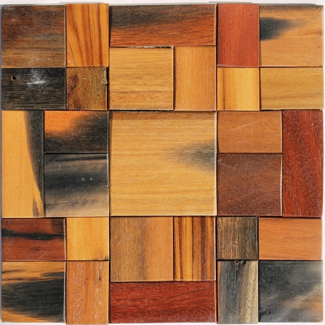 Old Ship Wood Mosaic Tile Wood Tiles Floor Mosaic Tiles Wall - Belle carrelage i feel wood