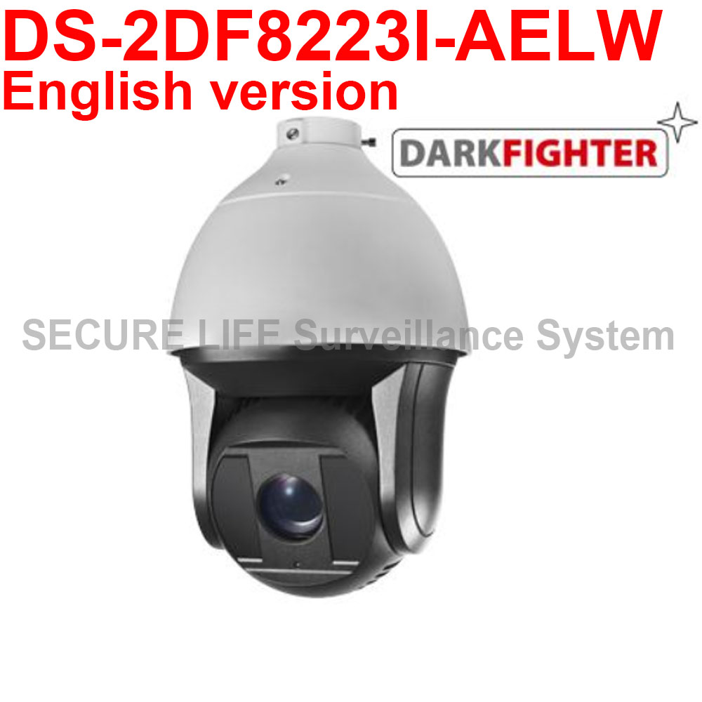 In stock DS-2DF8223I-AELW English version 2MP Ultra-low Light Smart PTZ Camera, Dark fighter with wiper 2017 new ds 2df8836iv aelw english version 4k smart ir ptz camera poe camera with wiper