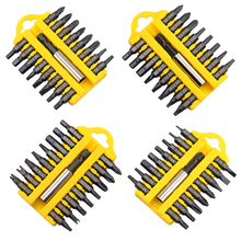 17 POWER DRILL CORDLESS SCREWDRIVER PHILIPS SLOTTED STAR BIT SET MAGNETIC HOLDER