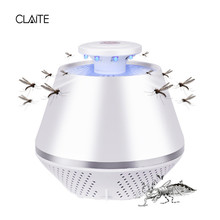 CLAITE LED Mosquito Killer Lamp USB Rechargeable Electronic Mosquito Repellent Lamp Photocatalyst Insect Fly Pest Killer Light