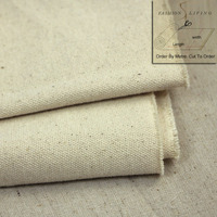 150cm Wide Heavyweight Unprimed Natural White Grey Stone Cotton Duck Canvas Fabric By The Meter
