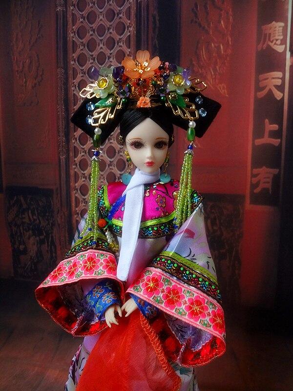 1/6 poupées anciennes chinoises de collection comme BJD Doll 12 corps commun poupées princesse de la dynastie Qing cadeaux de noël d'anniversaire