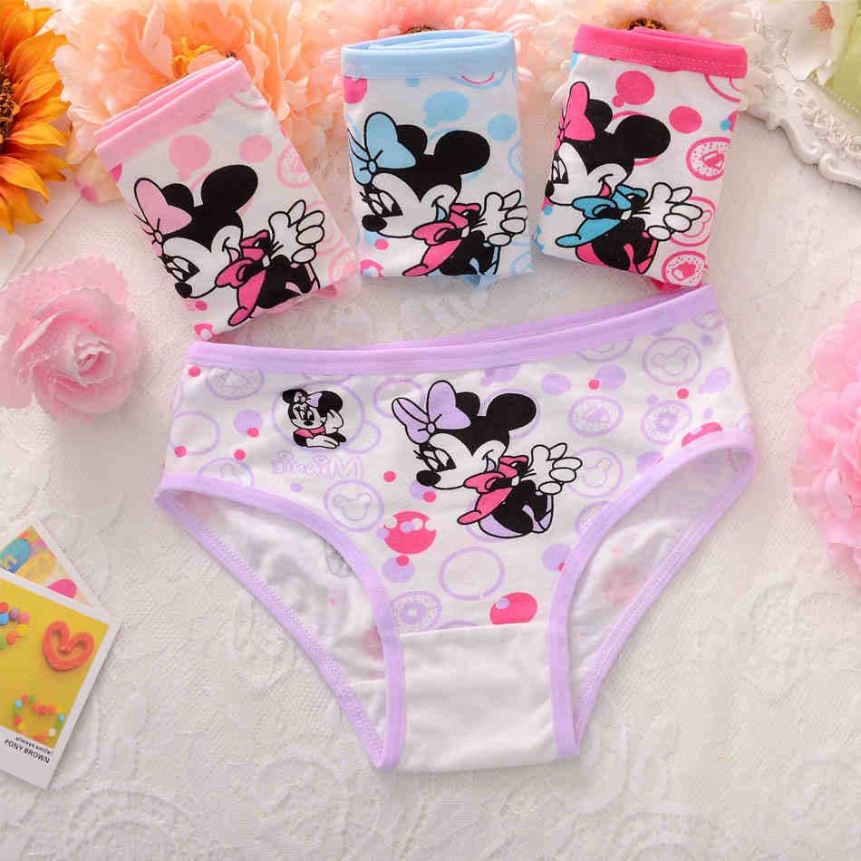 4pcs/set children's briefs cartoon princess cotton Baby girl underwear lovely kids pants Infantis panties for nurseries toddler