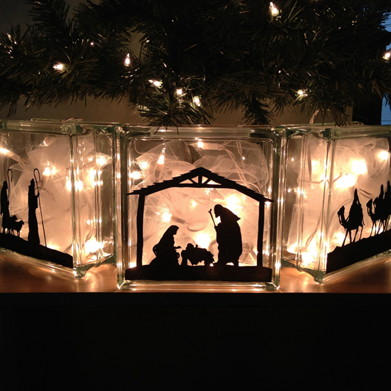 Holiday Christmas Decor Nativity Scene Baby Jesus Vinyl
