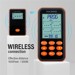 Image 5 - Inkbird IRF 4S Four Probes Remote Wireless Waterproof Grill Thermometer , 1000 Feet Signal, USB Charging Cable Orange