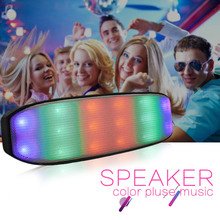 New Wireless Portable Colorful Light Bluetooth Speaker Waterproof Stereo Loud Speakers Handsfree Calls with USB TF Card FM Radio