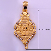 Anniyo allah pendant for women islam muslim pendants with Rhinestone Jewelry arab gifts