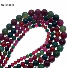 Top Quality Natural Agate Stone Tourmaline Agate Beads Colorful Round Loose Beads Ball 4/6/8/10/12MM Jewelry Bracelet Making DIY xinyao jewelry 40 4 6 810 12 14 diy f364 red agate beads
