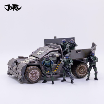1/25 JOYTOY Mecha Rhinoceros Scout Vehicle Car And UNSC Ninth Legion Soldier Action Figure Free Shipping free soldier синий s