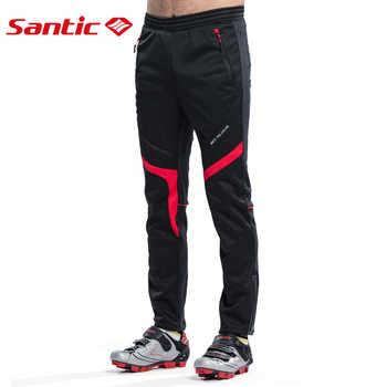 Santic Men Cycling Pants Winter Cycling Thermal Pants Running Outdoor Pants Cycling Clothings Asian size M-4XL M5C05066H
