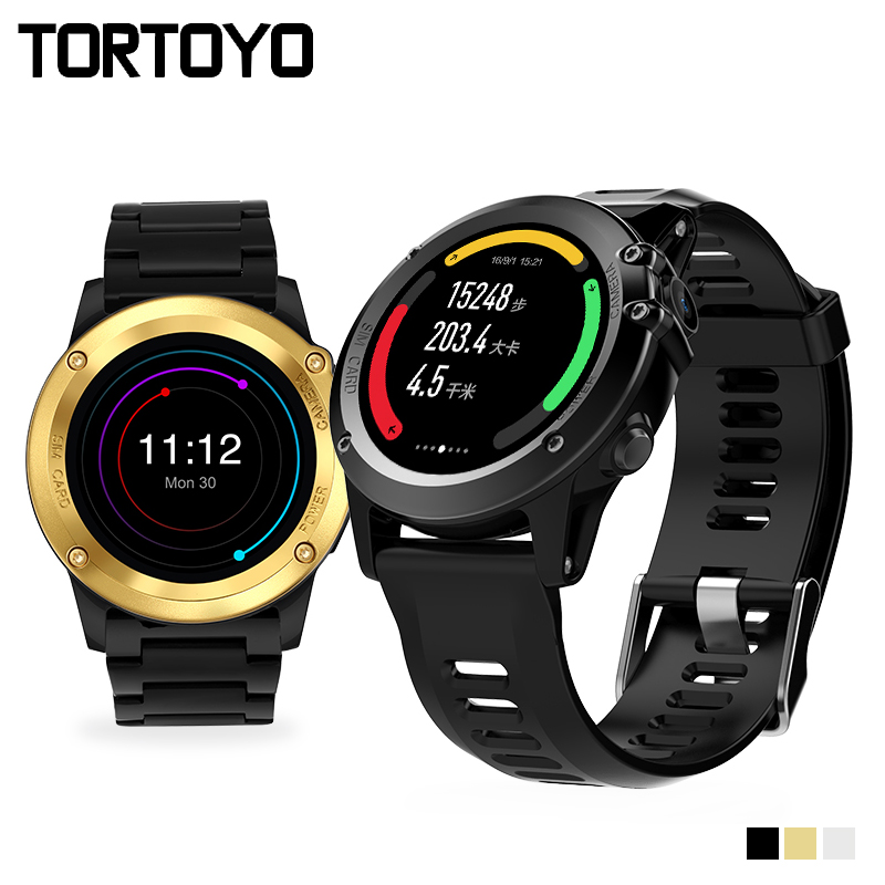 H1 Smart Watch Android 4.4 OS Smartwatch MTK6572 512MB 4GB ROM GPS SIM 3G Heart Rate Monitor Camera Waterproof Sports Wristwatch