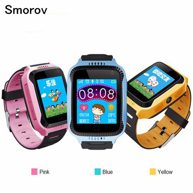 Q528 Kid GPS Smart Watch With Flashlight Baby Watch SOS Call Location Device Tracker for Kid Safe SmartWatch