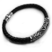 Mens leather bracelet jewelry preparation punk rope cool