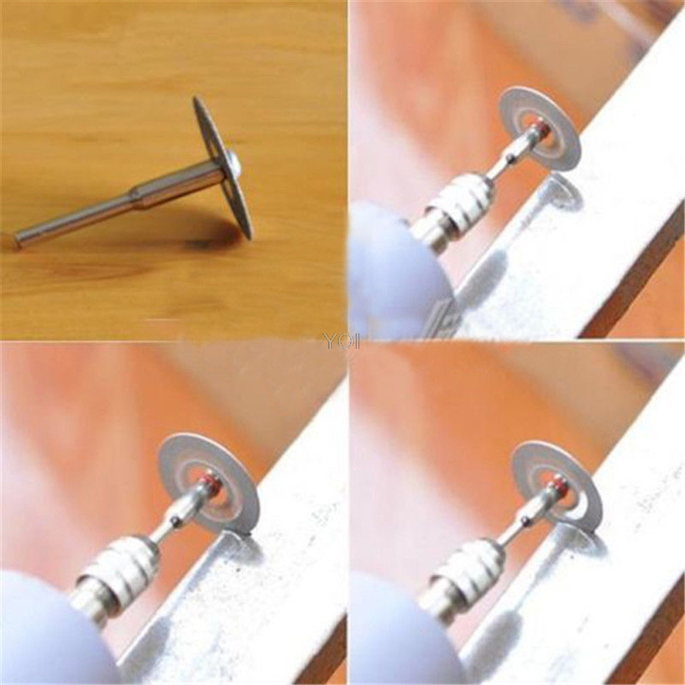 Hot 5 PCS 22mm Emery Diamond Cutting Blades Drill Bit+1 Mandrel Set