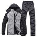 Зимняя куртка мужчины утолщение теплый куртка спортивный костюм марка спортивная костюм мужчины толстовки толстовки установить куртка + брюки 4XL 5XL SP078