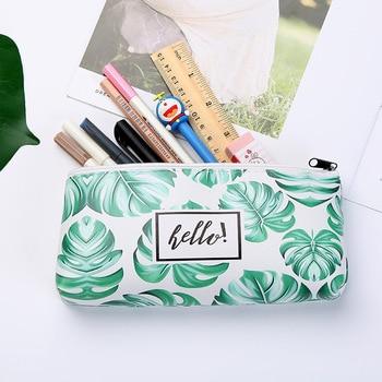 1pcs/1lot Kawaii Pencil Case Turtle leaf Gift Estuches School Pencil Box Pencilcase Pencil Bag School Supplies Stationery 1