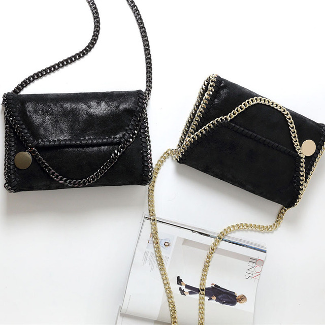 Fashion Womens Stella Design Chain Detail Cross Body Bag Ladies Shoulder bag clutch bag bolsa franja luxury evening bags