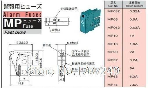 Free Shipping 10pcs/Lot DAITO Alarm Fuse MP63 6.3A 125V 100% new and original Fanuc CNC