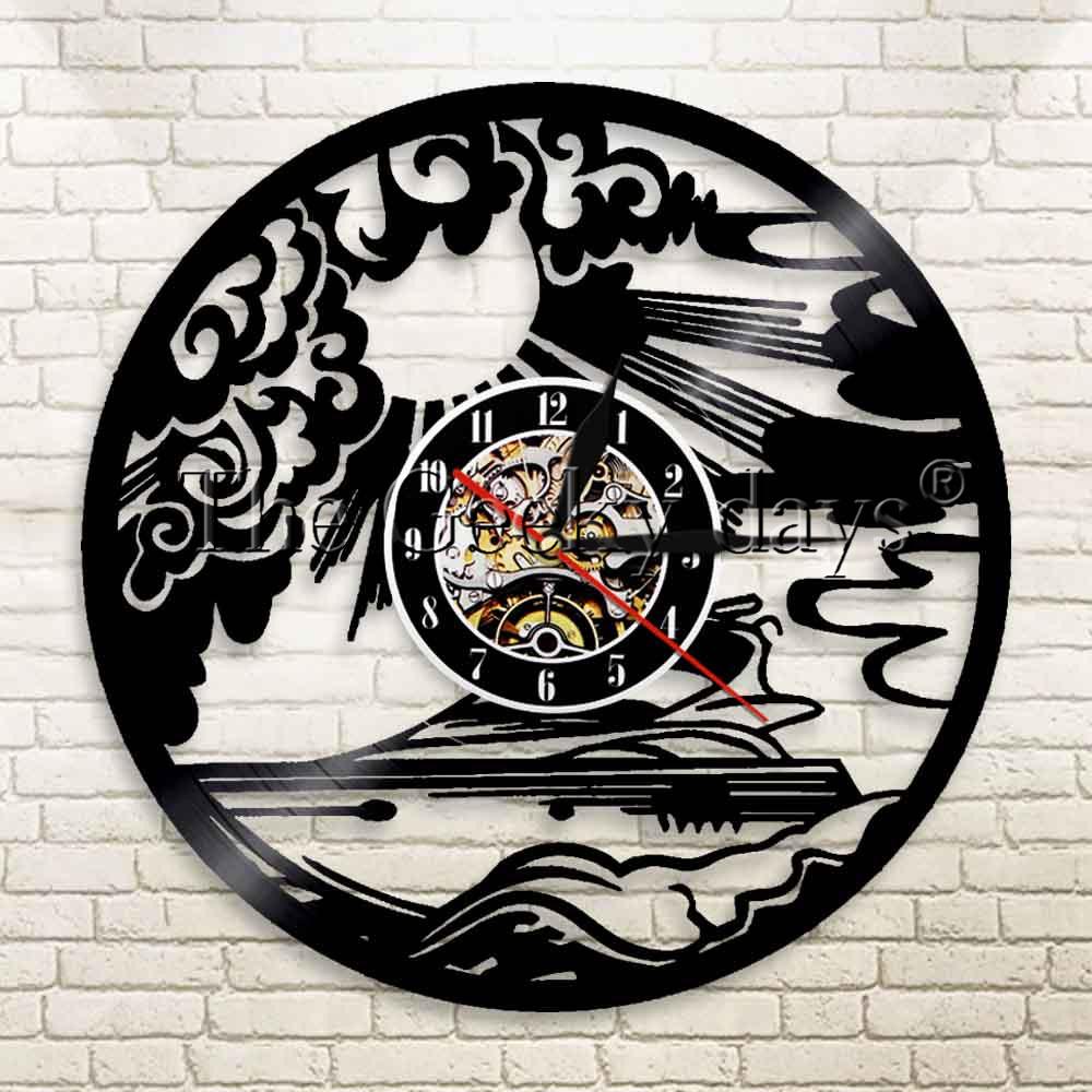 1piece Yachting Sport Sailing Yachtsman Vinyl Record Wall Clock Mariner Sailing Ship Clock Seaman Wall Art Clock Wall Clock Record Wall Clockart Clock Aliexpress