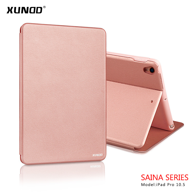 for iPad Pro 10.5 Case Luxuey PU Leather Soft Silicone Smart Cover Case Stand Auto Sleep Magnet Shell for A1701 A1709 Tablet