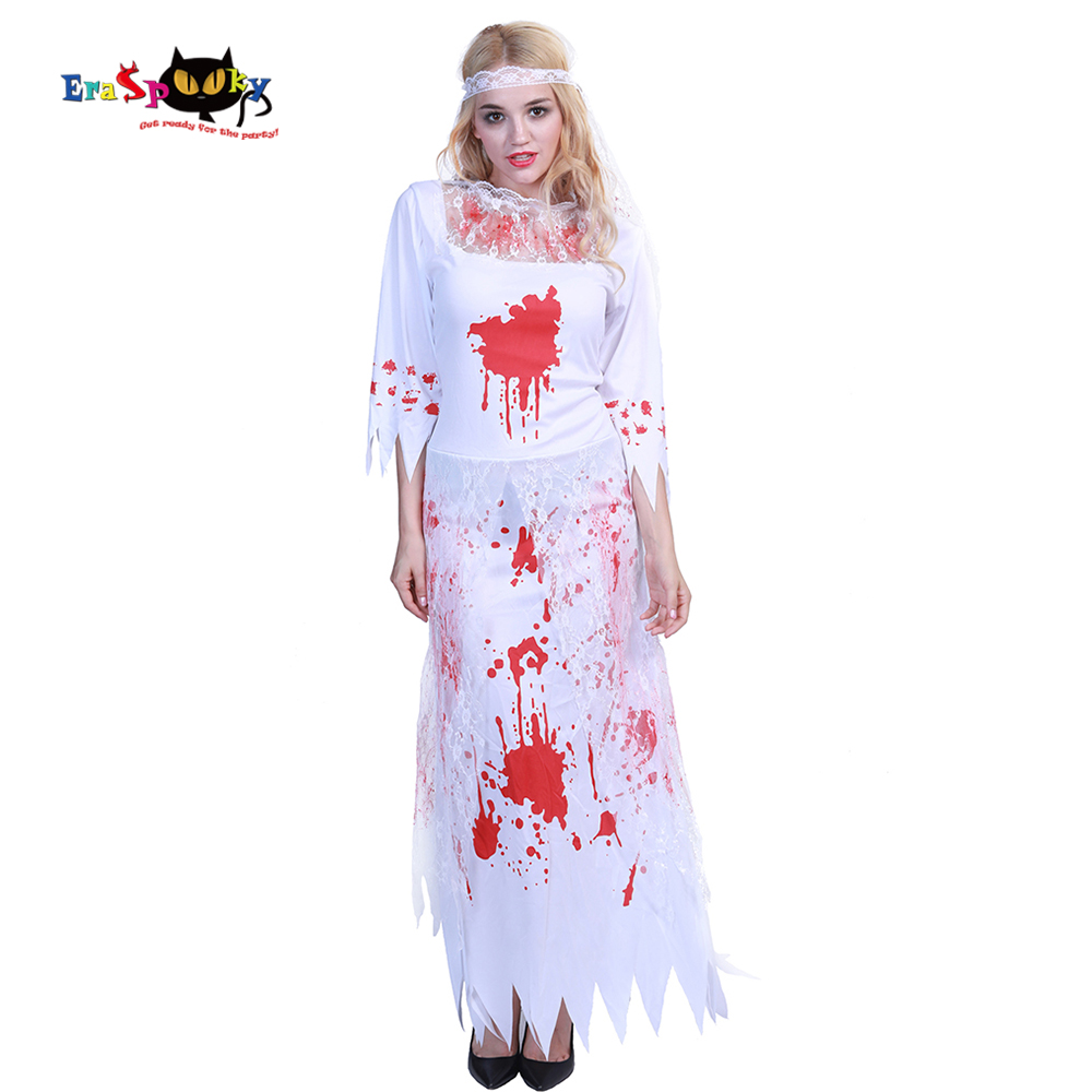 Fortunately, we have all the best scary costumes for babies, children and adults right here! Eraspooky Scary Bloody Ghost Bride Costumes Halloween Costume For Women Sexy Lace Dress Carnival Party Fancy Dress Headpiece Holidays Costumes Aliexpress