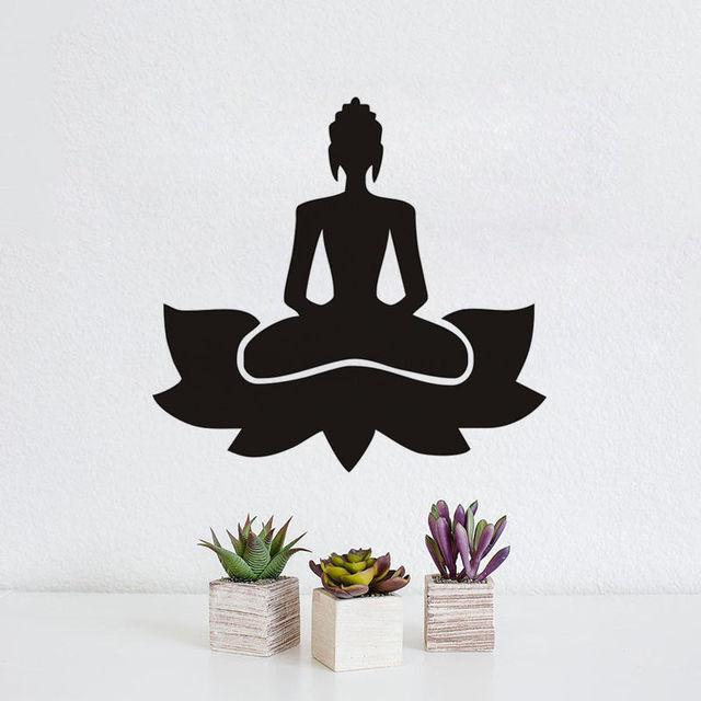 Meditate Yoga Lotus Pose Wall Decals GYM Decor Indian Yoga Wall ...