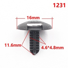 1231 Car accessories Toyota universal trunk covers panel clasp auto clips Small buckle 100pcs/lot  Free shipping!