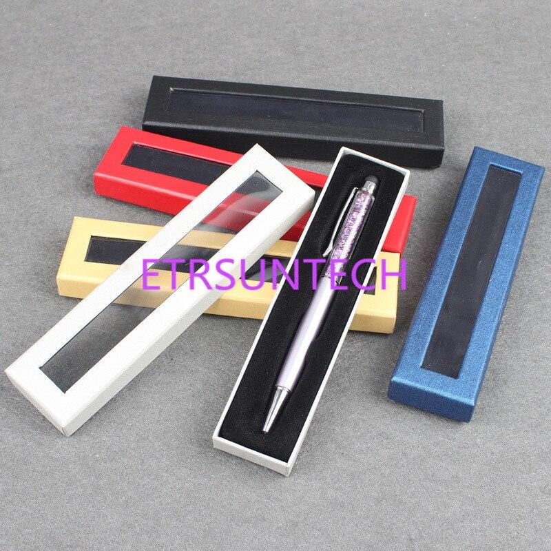 100 قطعة/الوحدة القلم مربع ورقة مربع العام الإبداعية هدية التعبئة والتغليف كرتون مربع الكرتون ورقة مربع مع البلاستيك pvc نافذة-في حقائب ومستلزمات تغليف الهدايا من المنزل والحديقة على  مجموعة 1
