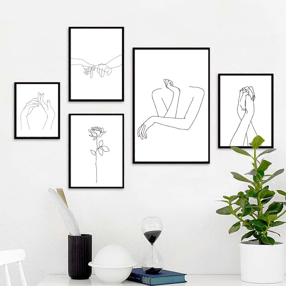 Sexy Women Body Nordic Poster&Print Modern Canvas Painting ...